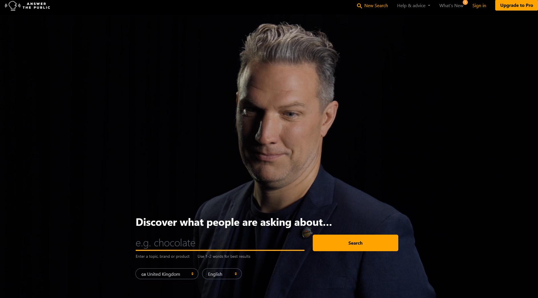 herramienta de escucha de mercado, investigación de contenidos y palabras clave - AnswerThePublic